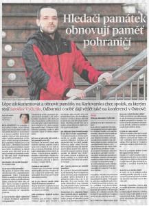 MF Dnes Jaroslav Vyčichlo, Spolek pro dokumentaci a obnovu památek Karlovarska